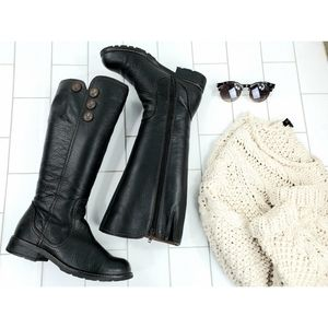 Sofft knee high stacked heel boots 6 1/2